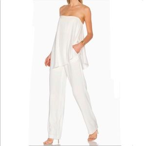Halston Heritage strapless asymmetrical jumpsuit 6
